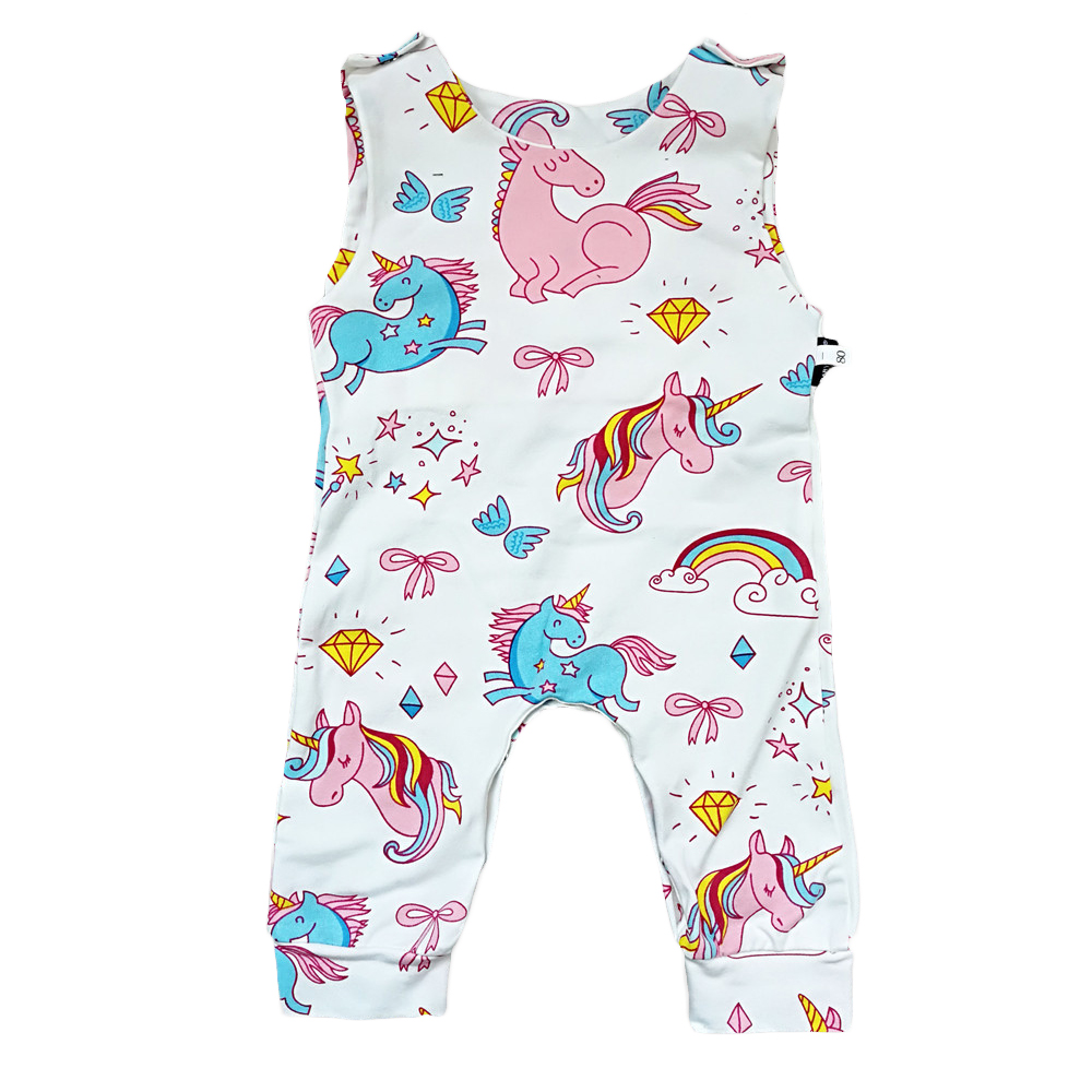 Kids Romper Baby Girl Clothes 2018 Summer Bebes Unicorn Romper Newborn Jumpsuit Printed Floral Tiny Cottons Kids Costume 2 Years
