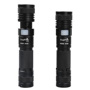 Image 2 - Supfire Linterna con Zoom para el hogar, minilinterna LED 18650 de 2000lm, Linterna A2, Linterna con USB EDC Latarka, luz de trabajo o de Camping