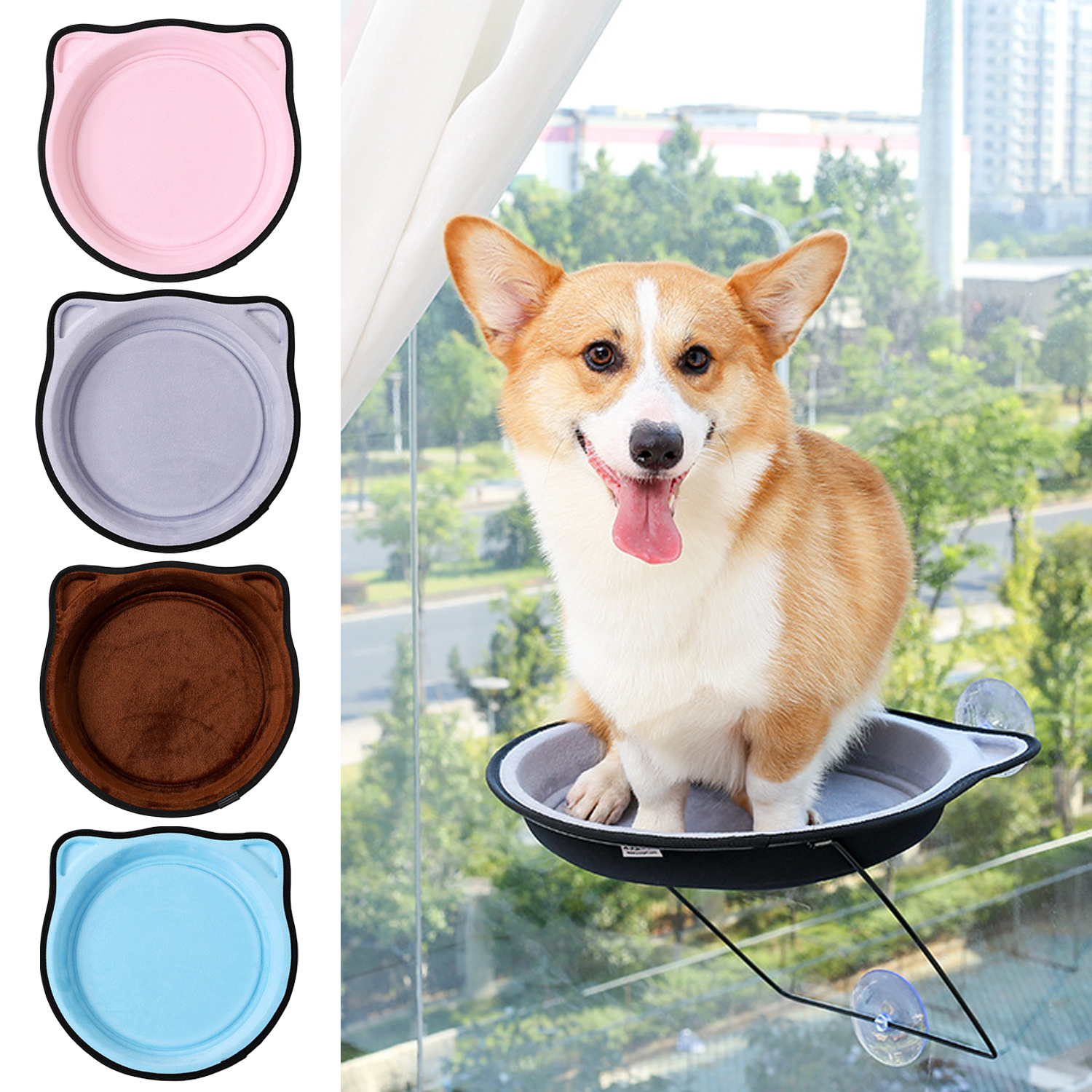 Admirable Us 15 35 25 Off Behogar Mini Cat Window Perch Window Mounted Cat Bed Hammock Sunny Seat Kitty Bed Climbing Tower With 4 Suction Cups In Cat Beds Andrewgaddart Wooden Chair Designs For Living Room Andrewgaddartcom