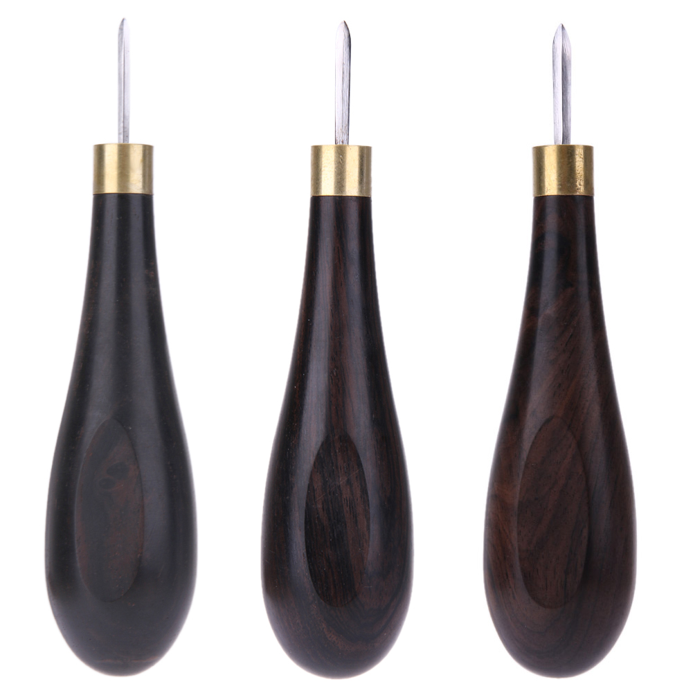 Handmade Craft DIY Leather Craft Sandalwood Rhombus Leather Reaming Awl Cone Spacing Leather Punch Tool S-L