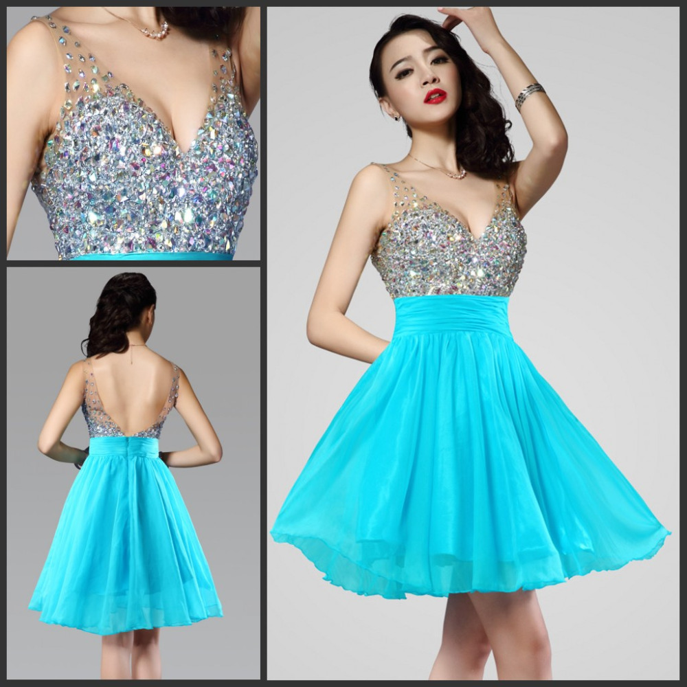White Prom Dresses Sparkles and Turquoise | Dress images