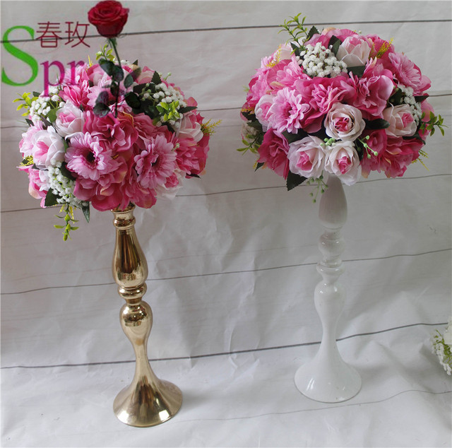 Free Shipping!10pcs/lot Wedding Road Lead Artificial Flowers Wedding Table