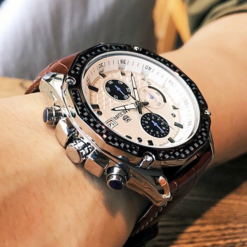 MEGIR Men's Fashion Sports Watches Luxury Top Brand Quartz-