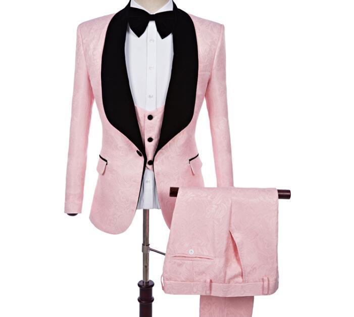 Nueva S De Traje Los Primavera Tres Piezas Casual Hombres Rosado 5xl  Caliente La Vestido Moda 2019 Novio Jacquard qH8pq 06b6aa361b4