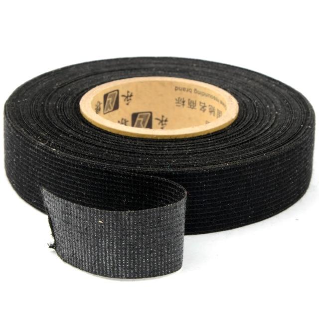 Nuevo 19mm x 15 m Tesa Coroplast cinta de tela adhesiva para Cable arnés cableado telar