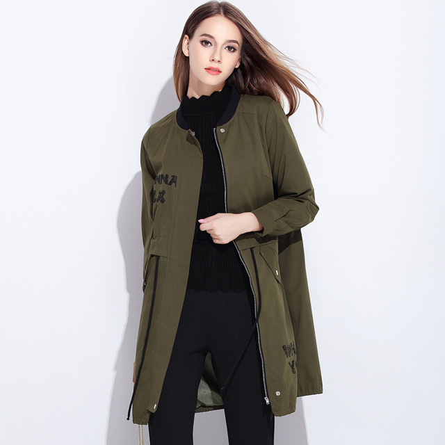 Burderry Women Burderry 2016 Spring Autumn New Fashion Women Trench Coat Long Cotton Windbreaker Big Size Female Coats Plus