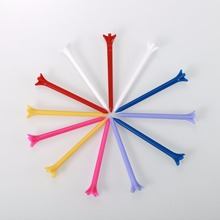 100 Pcs/Pack Professional Zero Friction 5 Prong 83mm Durable Plastic Golf Tees Golf Accessories
