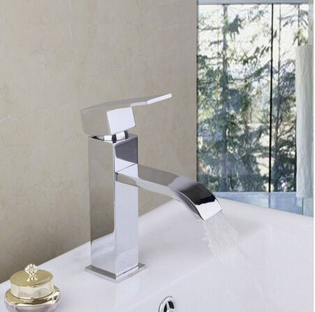 fashion high quality chrome brass single lever hot and cold bathroom sink faucet basin faucet