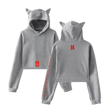 Bangtan7 Love Yourself Crop Top Hoodie With Ears (5 Colors)