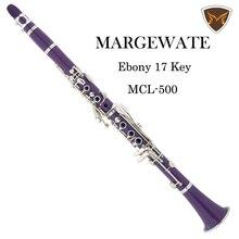 MARGEWATE Lila Klarinette ABS 17 Key B Flache Klarinette mit Fall Fett Reinigung Handschuhe Schraubendreher Bläser Instrument