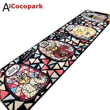 NiceRug Cool cat kitchen bar room bed bedroom carpet floor mats non-slip creative retro cartoon child Ottomans
