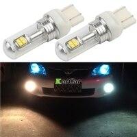 2x 40W CREE Chip XBD 572LM T20 Brake Light W21 5W Tail Lamp 7443 Fog Bulb