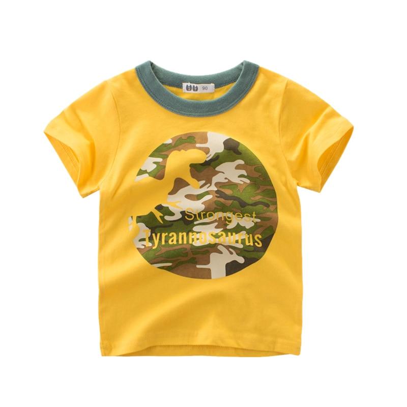 T Shirts Clothing Tops Short Sleeve Dinosaur Kids Boys Girls Tee White Shirt Summer Cartoon Cotton Children Graphic Toddler in T Shirts from Mother Kids