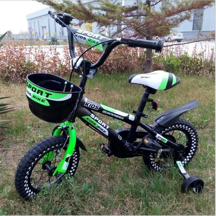 Vélo pour enfants bébé poussette vélo 12 pouces 14 pouces 16 pouces vélo tour sur jouets pour enfants quatre roues vélo 3-8 ans - 5