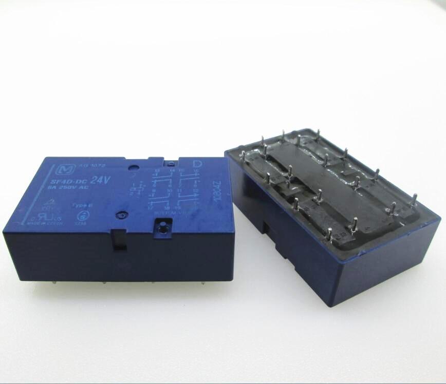 24V relay SF4D-DC24V SF4-DC24V SF4D-24VDC SF4DDC24V DC24V 24V 24VDC 6A 250VAC 14PIN все цены