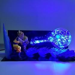 Dragon Ball Z Goku Gohan, светодиодные Ночники для Отца и Сына, светодиодная лампа Dragon Ball Super Son Gohan, светодиодная лампа, Dragon Ball