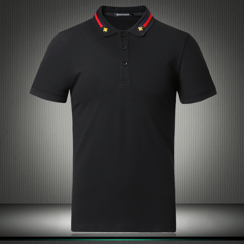 Great Fashion Designer   Polo   Shirts 2019 Summer New Cotton Classic Solid   Polo   Shirt for Men Short Sleeve Clothing 4XL 5XL 81855
