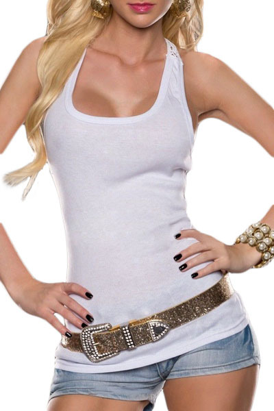 Summer clubwear Tops Sexy Cut Out 4 Colors Crochet