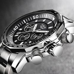 Relogio Masculino для мужчин часы LIGE Лидирующий бренд Роскошные модные кварцевые часы для мужчин's бизнес водонепроница большой циферблат военн...