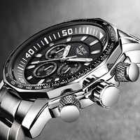 Reloj reloj de cuarzo para hombre, marca LIGE, de lujo, de moda, reloj de cuarzo, resistente al agua, para negocios, relojes deportivos militares de esfera grande