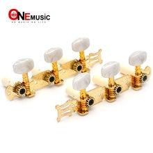 Juego de clavijas de afinación de cadena de bloqueo para guitarra clásica, sintonizador de llaves, cabezas de máquina doradas, 1R1L