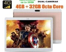 Envío libre 10 pulgadas Tablet Octa Core 4 GB RAM 64 GB ROM 1920×1200 ips 8.0mp desbloquear 4g lte fdd android 6.0 gps pad + regalos