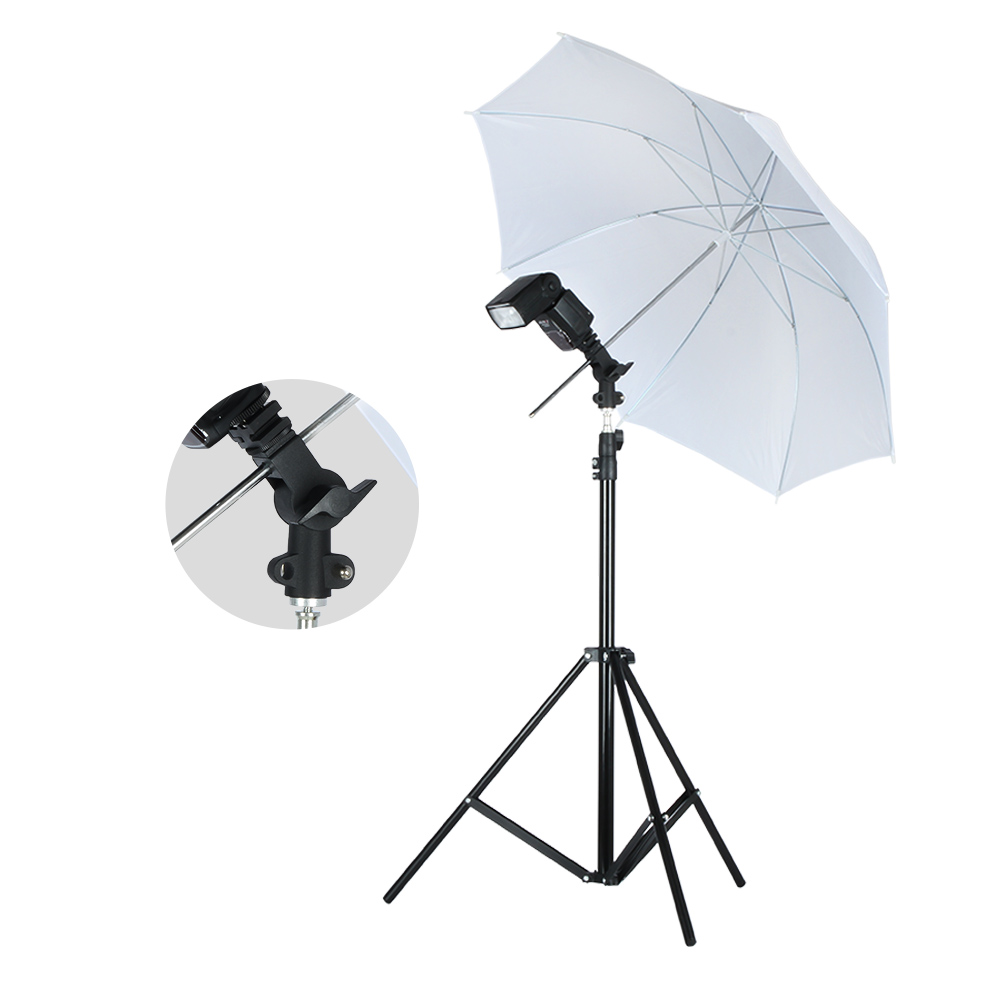 Image 3 - Viltrox Photo Studio Lighting Kit 1.9M Tripod Light Stand +  Flash Bracket Holder + 33'' Soft Black silver reflective umbrella-in Photo Studio Accessories from Consumer Electronics