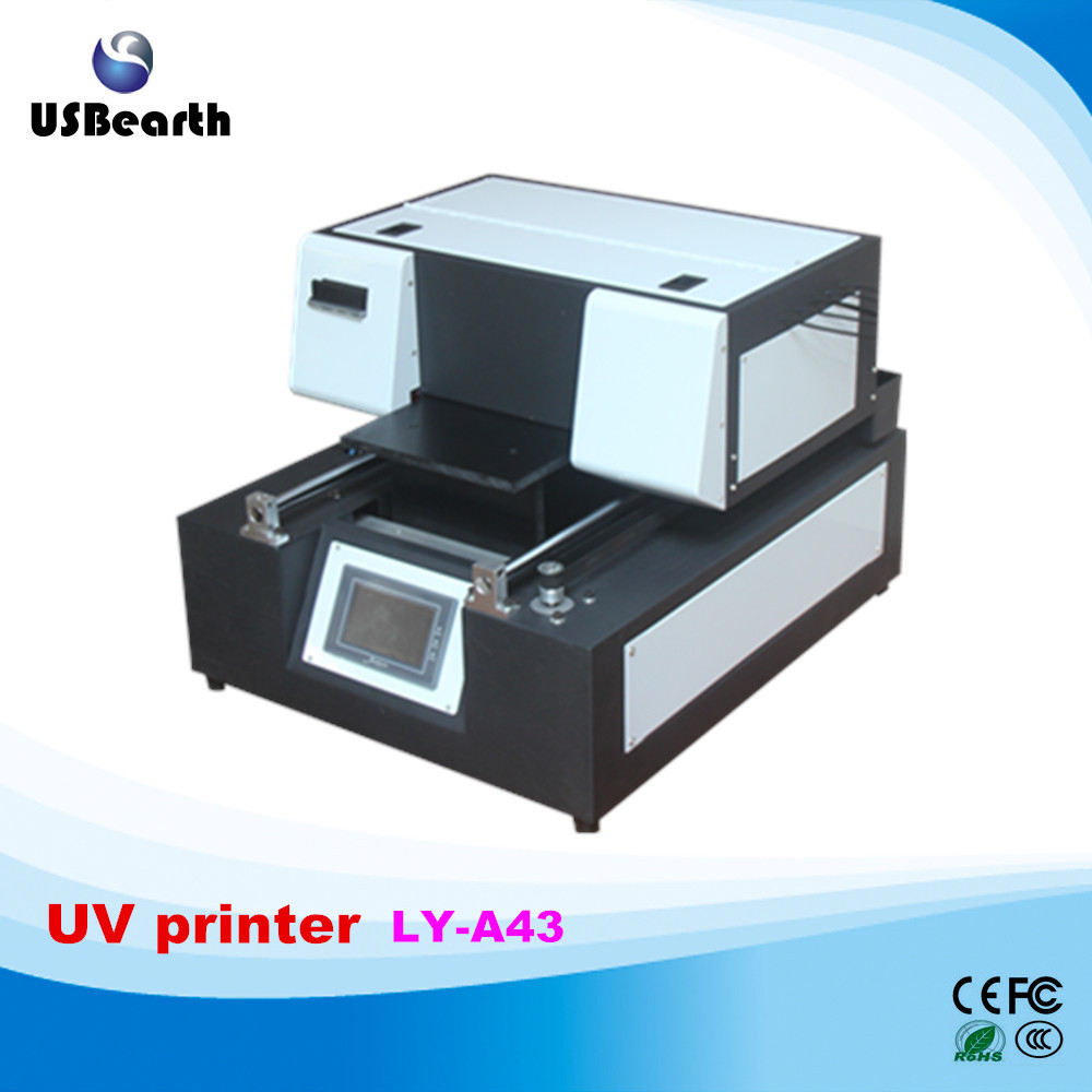 Russia tax free LY A43 touch screen UV flatbed Printer max print size 210x400mm UV printer for iphone case printer UV printing high quality uv flatbed printer manufacturing print on metal