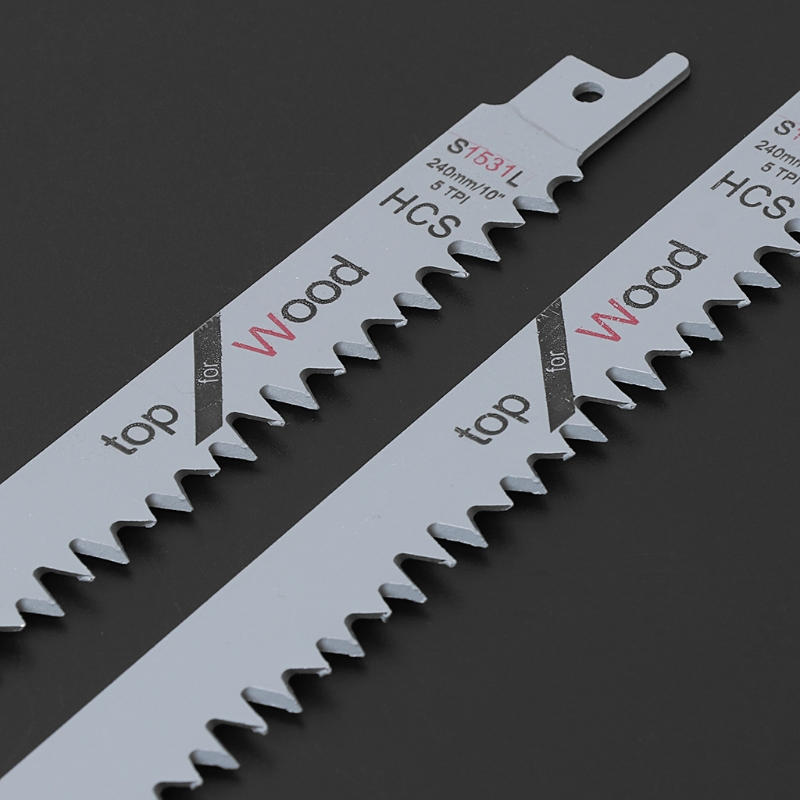 "Image 3 - 2pcs S1531L Reciprocating Sabre Saw Blades 9.5"" 240mm For Cutting Metal Wood-in Saw Blades from Tools"