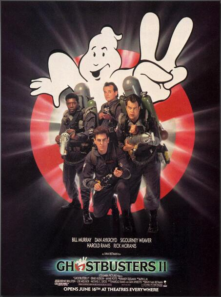 Ghostbusters II 2 Vintage Movie SILK POSTER Decorative Painting  Wall Painting 24x36inch