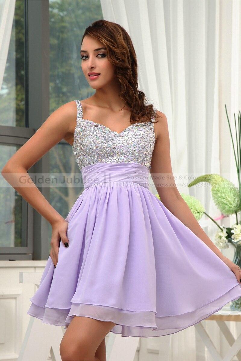 Baratos Lujo Sweetheart Mini gasa con cuentas cristales vestidos ...