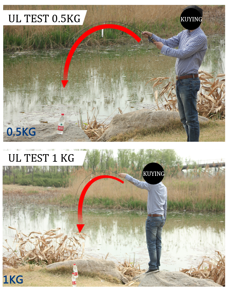 KUYING Teton UL Ultra-light Soft Fishing Rod 1.8m 1.9m 1.92m Lure Carbon Casting Spinning Cane Pole FUJI Medium Action FUJI Part