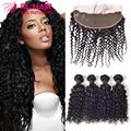 7A brazilian water wave virgin hair lace frontal closure with bundles brazilian virgin hair with closure human hair with closure
