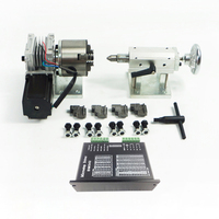 rotary axis A axis 4th axis for CNC router dividing head three dimensional sculpture take 80 fix with 4 chuck