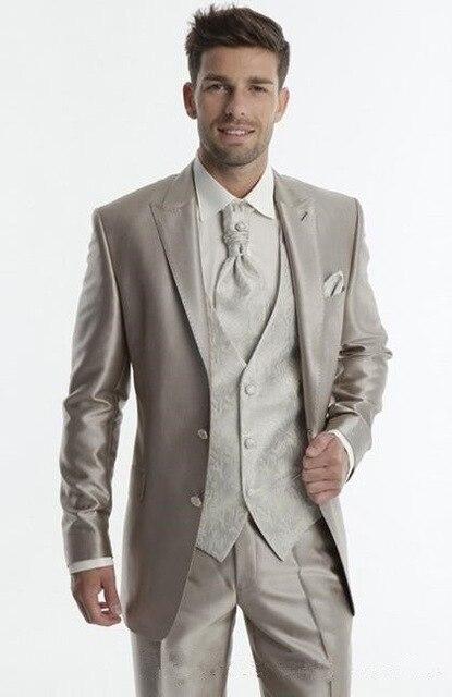 Commande As Fit Faite 3 Made veste The Costumes Pour Porter Marié Argent  Pièces Gilet Blazer 2018 Mariage Pantalon Slim Image Hommes Cravate De  Costume ... 88b7d05a420