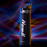 Sports Water Bottle High Quality Tour Hiking Portable Tritan Bottles Lock catch 600ml