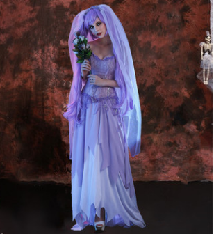 Online buy wholesale corpse bride costume from china for Corpse bride wedding dress for sale