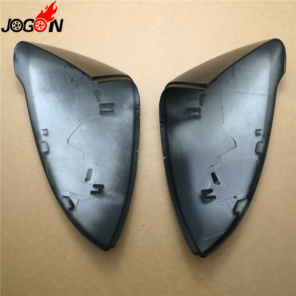 1 Pair Black Car Side Rear View Rearview Mirror Cover Shell Trim Sticker For Volkswagen VW GOLF 7 MK7 GTI R Car STYLING