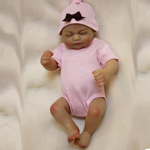 "Image 2 - OtardDolls bebe reborn doll 10"" Full slicone adorable reborn baby dolls Handmade Painting Hair Gift Bonecas  Bath toy"