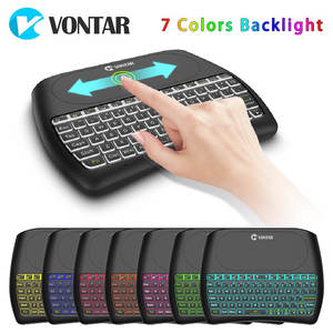 1ea6b2986f8 D8 Plus i8 2.4 GHz Wireless Mini Keyboard for Android TV BOX Backlight