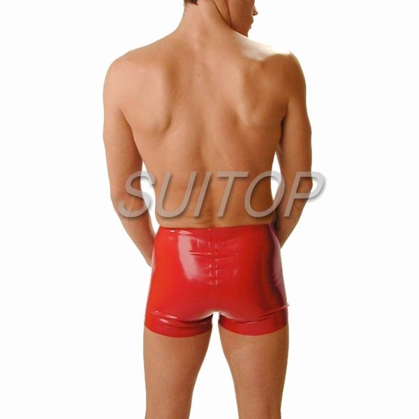 Boxer shorts dos homens do látex para pessoas adultas