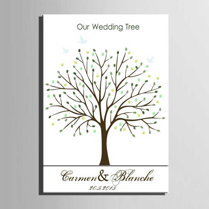 2019 Свадебная Гостевая книга отпечаток пальца свадебное дерево холст пальчиковая живопись подарки для гостей детский душ Comunion вечерние украшения