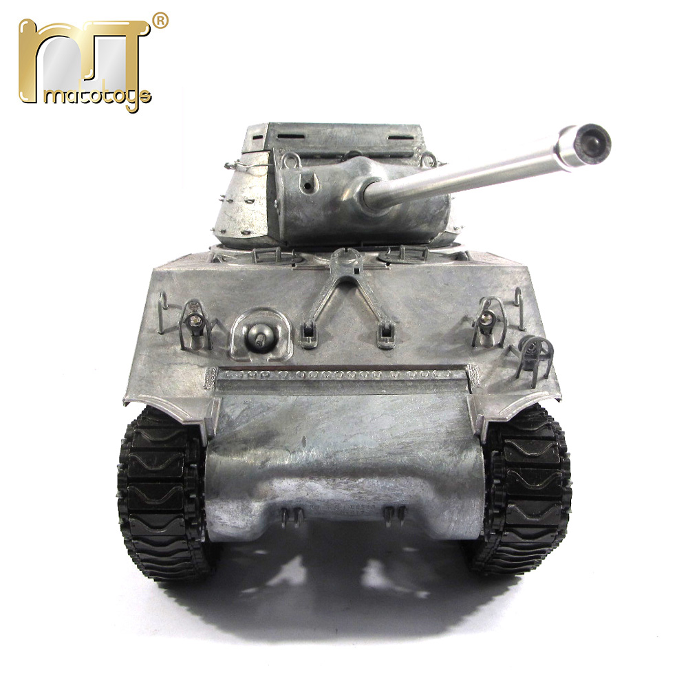 Mato Metal Tanks Model Ready to Run 100% metal M36B1 RC Tank Destroyer 1231-M Original metal color Infrared recoil version mato metal parts 1 16 m36b1 tank destroyer rc tank turret with servo