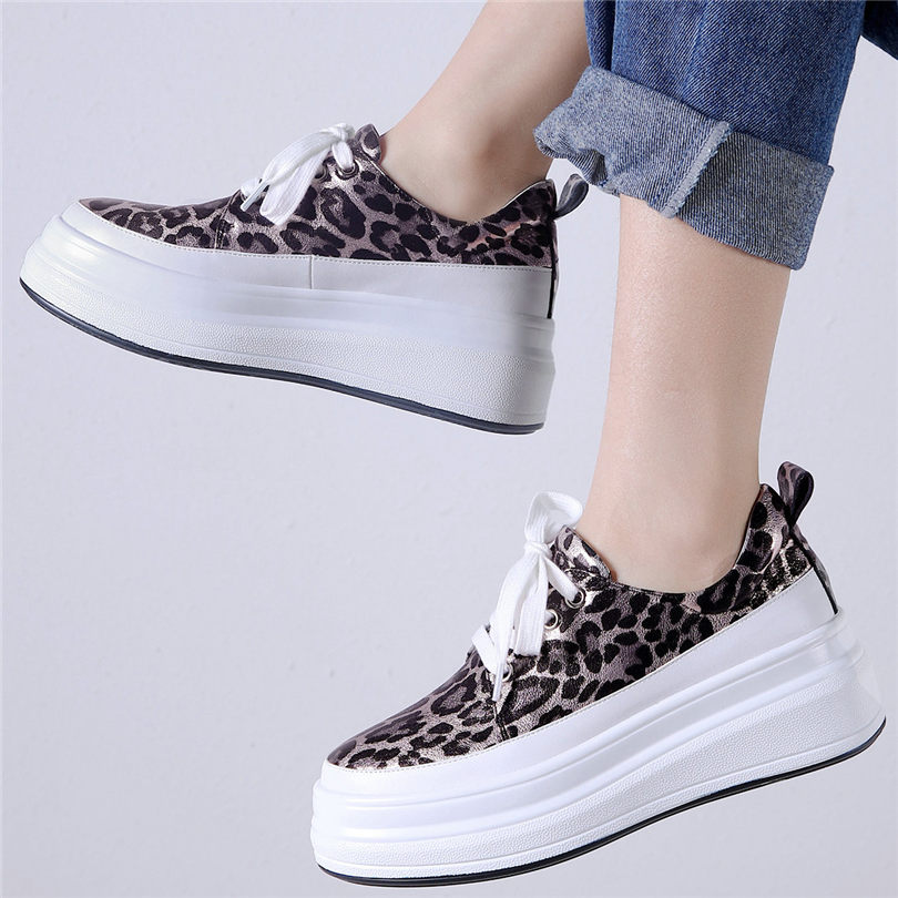 NAYIDUYUN     Sneakers Women Cow Leather Wedges Platform Evening Pumps Lace Up High Heel Tennis Shoes Low Top Round Toe TrainersNAYIDUYUN     Sneakers Women Cow Leather Wedges Platform Evening Pumps Lace Up High Heel Tennis Shoes Low Top Round Toe Trainers
