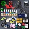 Kit Tattoo profissional Set 2 Artesanal Fio de Corte Da Máquina Do Tatuagem Arma Tatuagem Digital Power Supply Imoral Tintas de Tatuagem