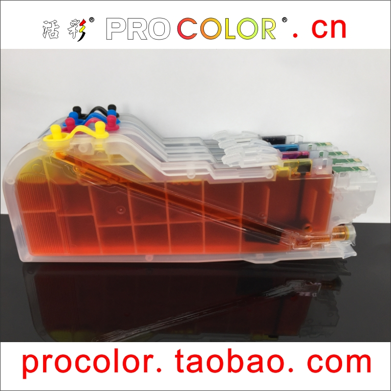Refillable Cartridge KIT for Brother LC203 LC205 MFC-J4625DW J5320DW HL-2275DW