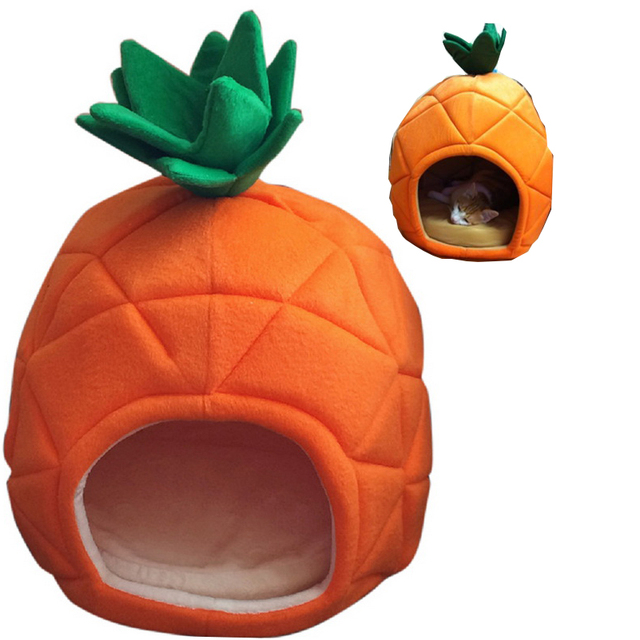 Creative Kennel Cat Nest Teddy dog Fruit Banana Strawberry Pineapple watermelon cotton bed warm pet Products Foldable Dog house 4