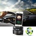 3.5mm Kit Car MP3 Speaker Music Player Rádio FM Transmissor Sem Fio modulador com suporte do telefone carregador de carro para iphone 6 7 plus