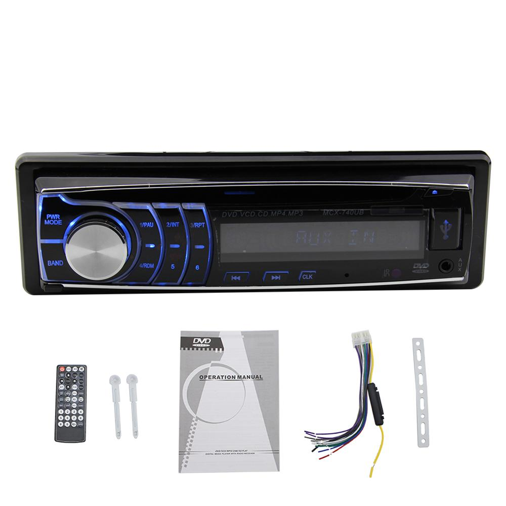 1 Din In-Dash Autoradio Car DVD CD Player Stereo Head unit Deck LCD Screen FM Radio DVD/MPEG-4/VCD/SVCD/MP3/CD USB/SD Off Time car headrest 2 pieces monitor cd dvd player autoradio black 9 inch digital screen zipper car monitor usb sd fm tv game ir remote