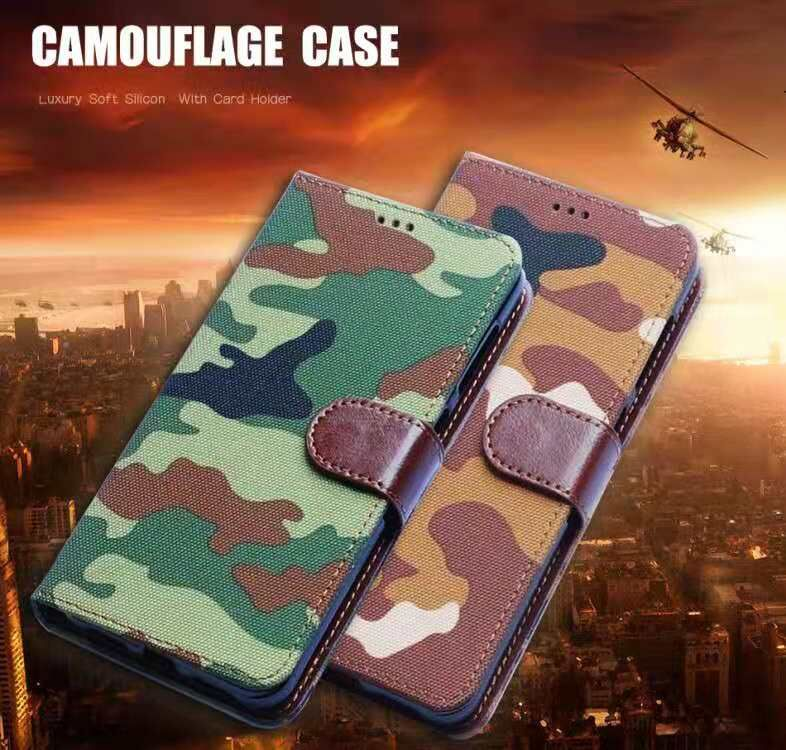 Army Camouflage Leather Phone Case For Nokia Lumia 1 2 <font><b>3</b></font> 5 6 <font><b>7</b></font> 8 9 230 540 640 650 850 <font><b>950</b></font> XL Wallet Cover For Nokia 2.1 <font><b>3</b></font>.1 5.1 image